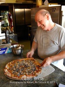 Celso Brida at the original Luigi's Pizza on Stockton Blvd (Click on the photo for a larger view)