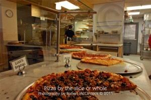 Slices are big and delicious Luigi's Slice on 20th at J Street (Click on the photo for a larger view)