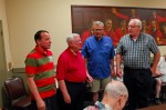 Barbershop quartet singing on Third Thursday (Click on the photo for a larger view)